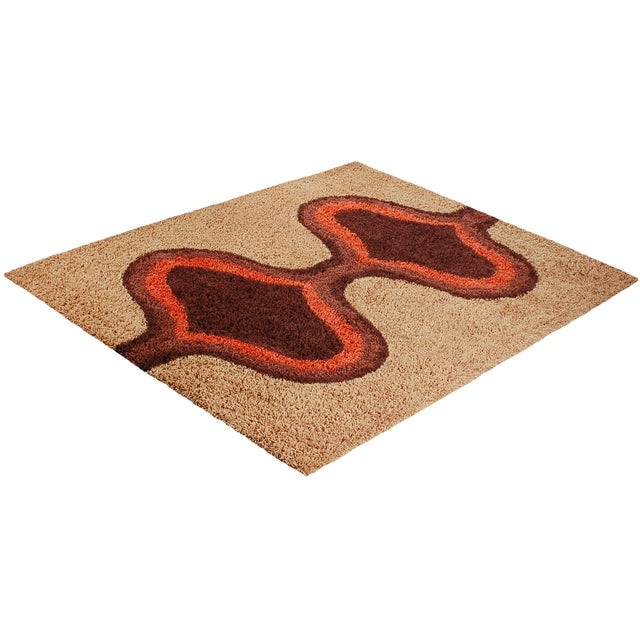 Mid-century rya inspired shag rug. This high quality rug is a modern day tribute to the classics of Scandinavia in the...
