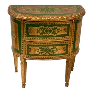 Italian Florentine Giltwood Painted Chest For Sale