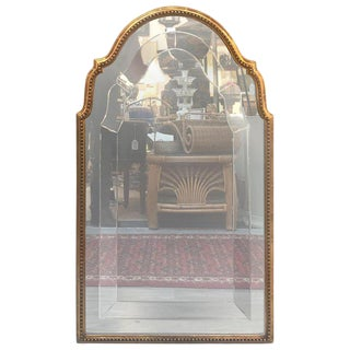 Italian Giltwood Mirror With Engraved Glass For Sale