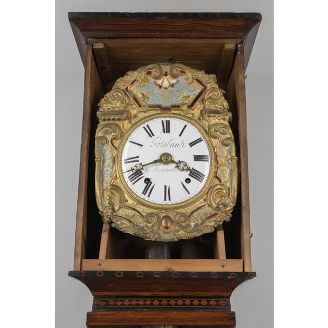 Mid 19th Century 19th Century French Comtoise Grandfather Clock With Automated Pendulum For Sale - Image 5 of 11