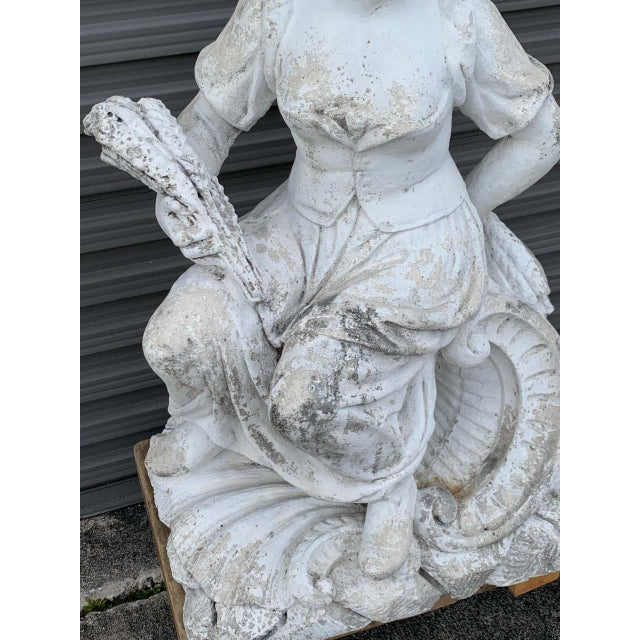 Large Versailles Style Cast Stone Statue of 'Harvest' on a Pedestal Base For Sale - Image 10 of 12