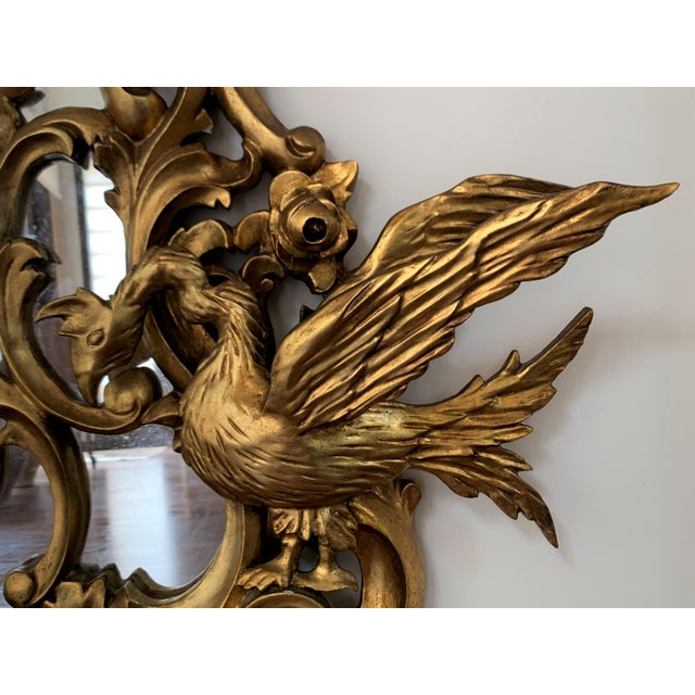 Early 20th Century 20th Italian Giltwood Carved Eagles Mirror For Sale - Image 5 of 8