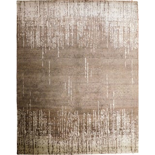 """Contemporary Hand-Knotted Luxury Rug - 8' x 10'2"""" For Sale"""