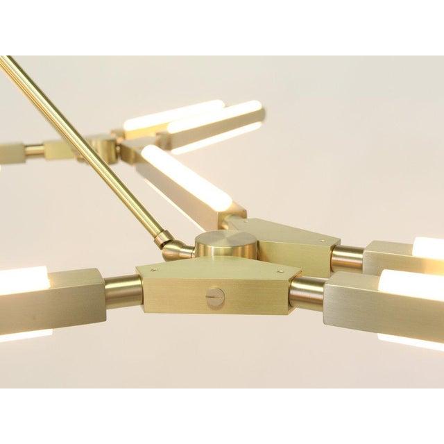 Modern Pelle Pris Major Light Fixture For Sale - Image 3 of 5