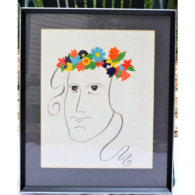 Bohemian Abstract Face Illustration For Sale - Image 4 of 7