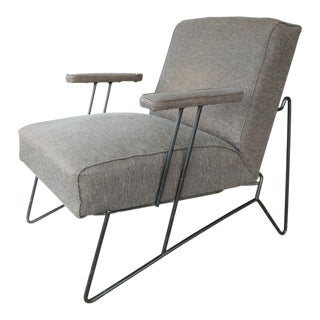 Vintage Mid Century Modern Dan Johnson Iron Chair Pacific Iron Products Chair For Sale