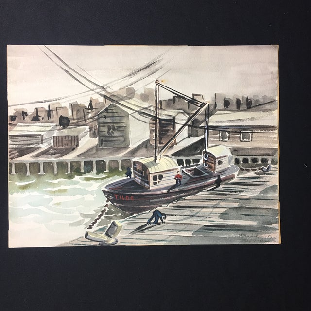 1952 Marine Watercolor Unframed - Image 3 of 7
