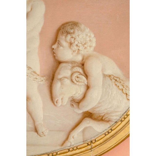 Pair of Neoclassic Grisailles Paintings For Sale - Image 4 of 9