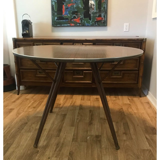 Atomic Retro Modern Formica Top Dining Table - Image 4 of 4