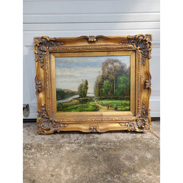 Canvas Vintage Mid-Century L. Stephano Oil on Canvas Landscape Painting For Sale - Image 7 of 7