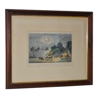 """19th Century Currier & Ives """"Point Lobos & Seal Rocks """" Lithograph For Sale"""