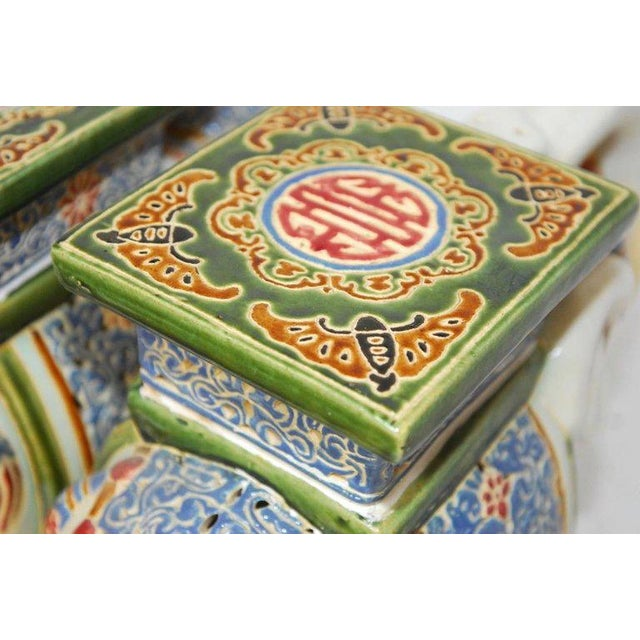 Chinese Ceramic Elephant Garden Stools - A Pair | Chairish