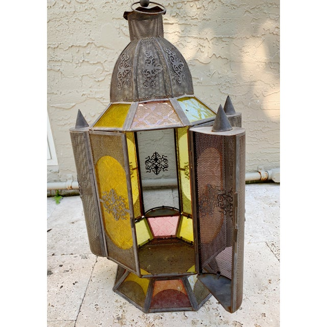 Vintage Moroccan Lantern Candle Holder For Sale In Miami - Image 6 of 12