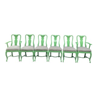 Lacquered Dining Chairs - Set of 6 For Sale