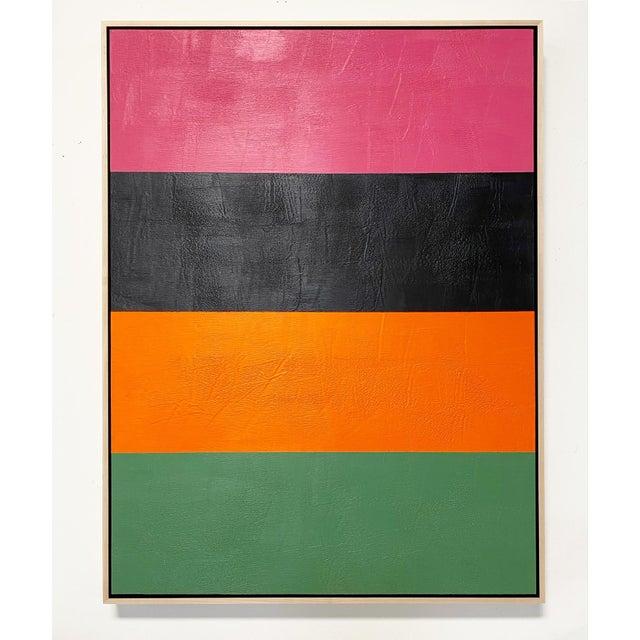 "Encaustic Exclusive John O'Hara ""Line Dance 1"" Encaustic Painting For Sale - Image 7 of 8"