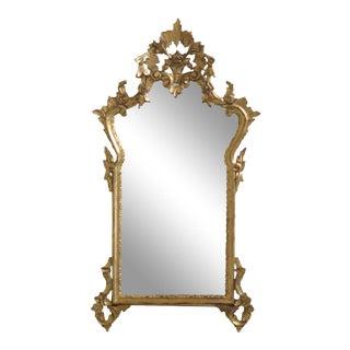 Italian Made Gold Gilt Wood Decorative Mirror For Sale
