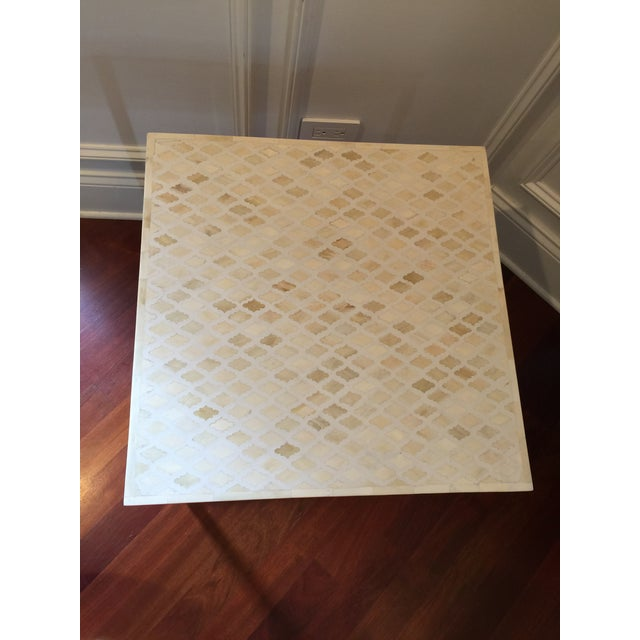 Indian Style Bone Inlay Side Accent Table For Sale In Chicago - Image 6 of 7