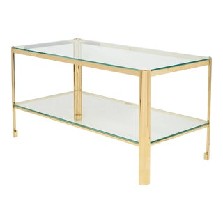 Bronze and Glass Cocktail Table by Jacques Quinet for Maison Malabert For Sale