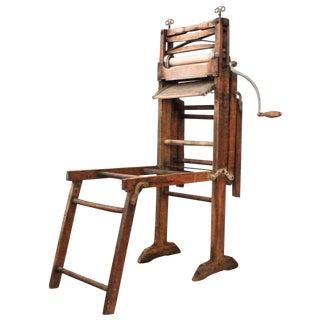 Antique Wooden Laundry Wringer Wash Rack For Sale