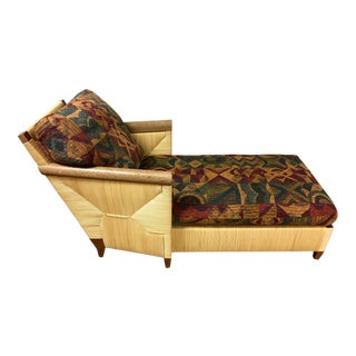 1990's Donghia Merbau Chaise Lounge by John Hutton For Sale