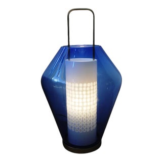 Barovier & Toso - Blue Lanterna Lamp by Barovier & Toso For Sale