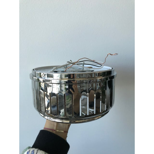 Visual Comfort Visual Comfort Polished Nickel With White Glass Eden Flush Mount- Sold Individually For Sale - Image 4 of 7