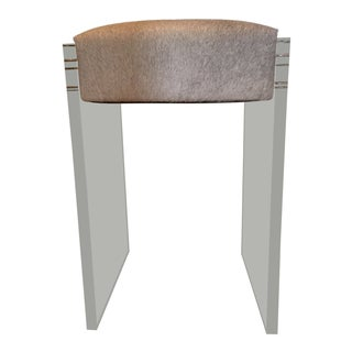 Zentique Acrylic & Hide Counter Stool For Sale