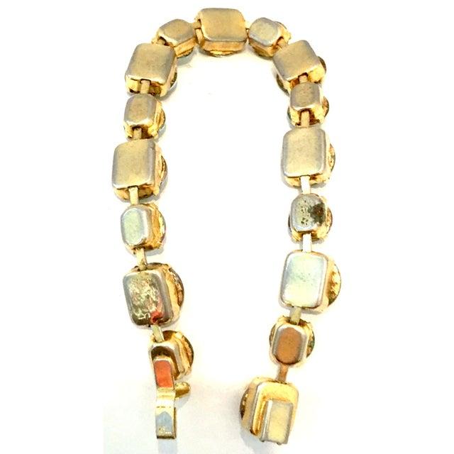 20th Century Gold Plate & Austrian Crystal Rivoli Watermelon Link Bracelet For Sale - Image 10 of 11