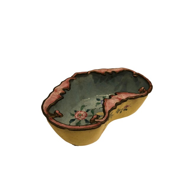 Late 19th Century Chinese Enamel Catchall Dish For Sale - Image 4 of 8