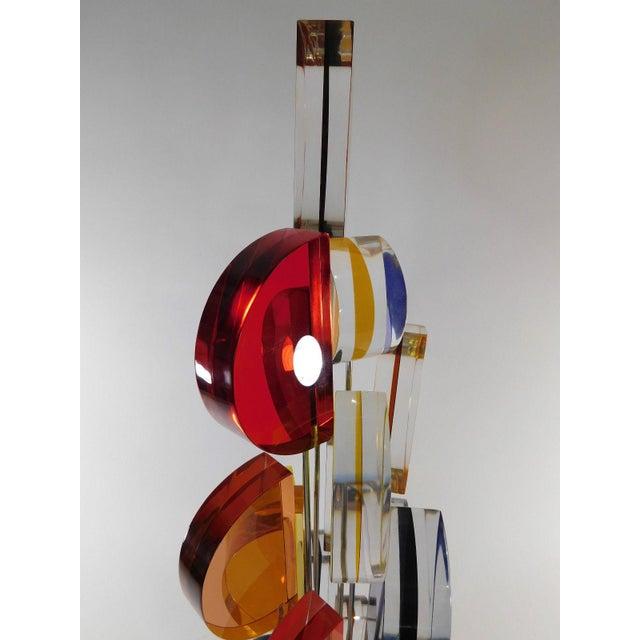 Michael George Sunburst Kinetic Lucite Sculpture - Image 8 of 10