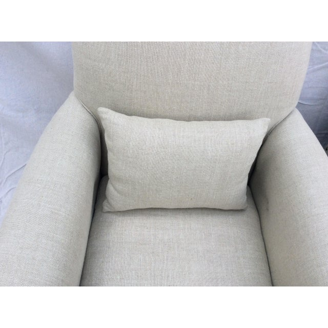 Restoration Hardware Club Chairs - a Pair For Sale In Los Angeles - Image 6 of 8