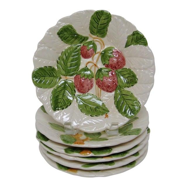 Embossed Porcelain Salad Plates - Set of 6 - Image 1 of 4