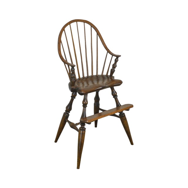 Windsor Style Childs Youth Arm Chair by K. Malone (18th Century Reproduction) For Sale