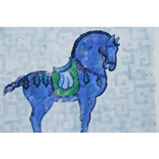 Chinese War Horse Painting by Cleo Plowden Preview