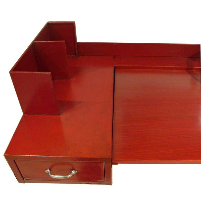 Mid-Century Modern Jean Prouve and Jules Leleu Metal Wall-Mounted Desk, France Circa 1936 For Sale - Image 3 of 10