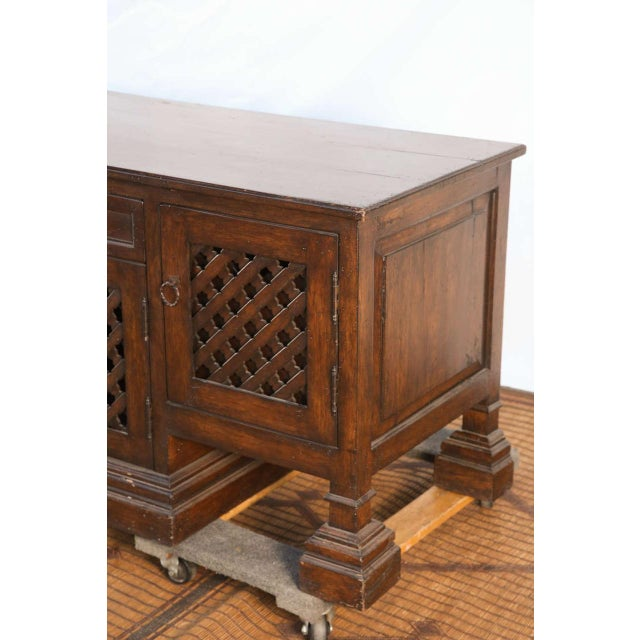 Brown Mid Century Moroccan Handcrafted Decorative Desk For Sale - Image 8 of 10