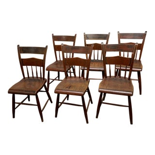 1820s Hitchcock Dining Chairs- Set of 6 For Sale