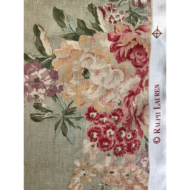 Shabby Chic Shabby Chic Ralph Lauren Floral Fabric - 3/4 Yard For Sale - Image 3 of 6