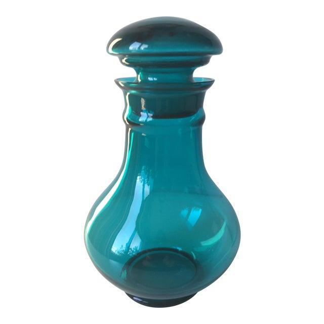 Vintage Blenko Turquoise Glass Decanter/Jar - Image 1 of 7