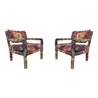 Vintage Milo Baughman Attributed Parsons Chairs - a Pair For Sale