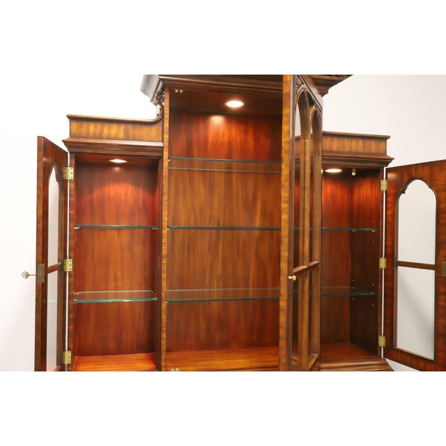Maitland Smith Aged Mahogany Chippendale Breakfront China Cabinet For Sale In Charlotte - Image 6 of 13