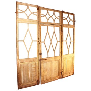 Large Directoire Period Glazed Boiserie Panels With Door For Sale