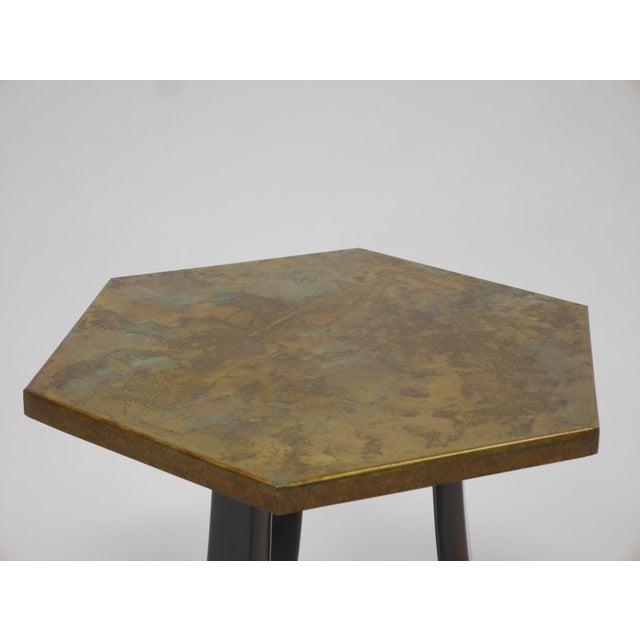 Black Pair of Harvey Probber Acid-Etched Bronze Tables For Sale - Image 8 of 11