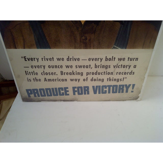 """""""Iron Worker"""" Vintage WWII Victory Poster For Sale - Image 7 of 8"""