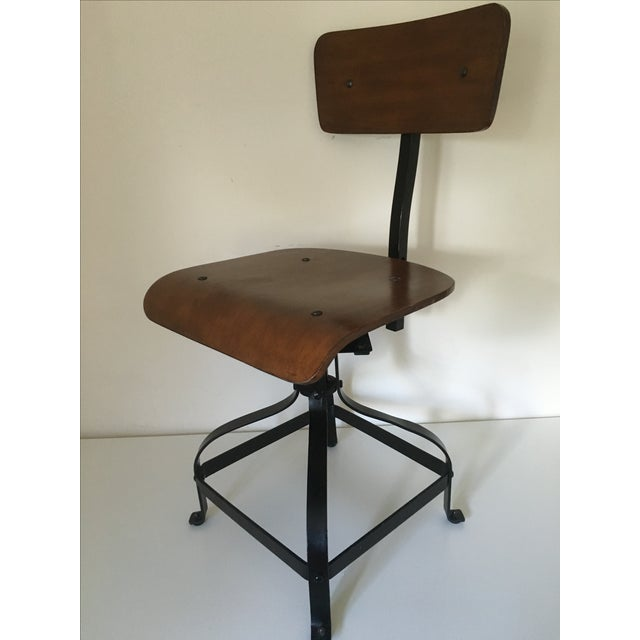 Vintage Toledo-Style Industrial Chair - Image 3 of 5