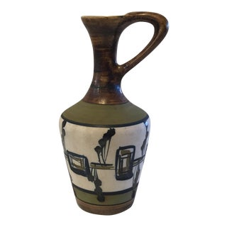 Israeli Harsa Pottery Pitcher For Sale