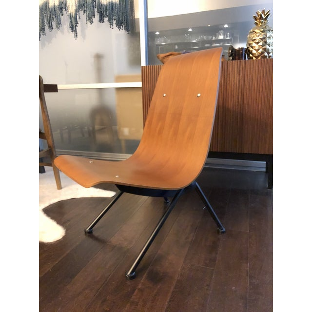 Mid-Century Modern Jean Prouvé Anthony Reproduction Chair For Sale - Image 3 of 3