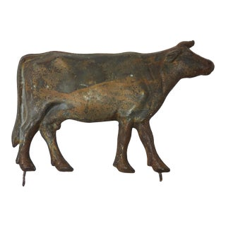 Early 20th Century Antique American Bull Weathervane Figurine For Sale