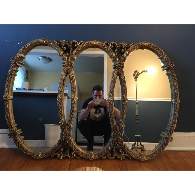 Gold Gilt Triple Mirror - Image 2 of 6