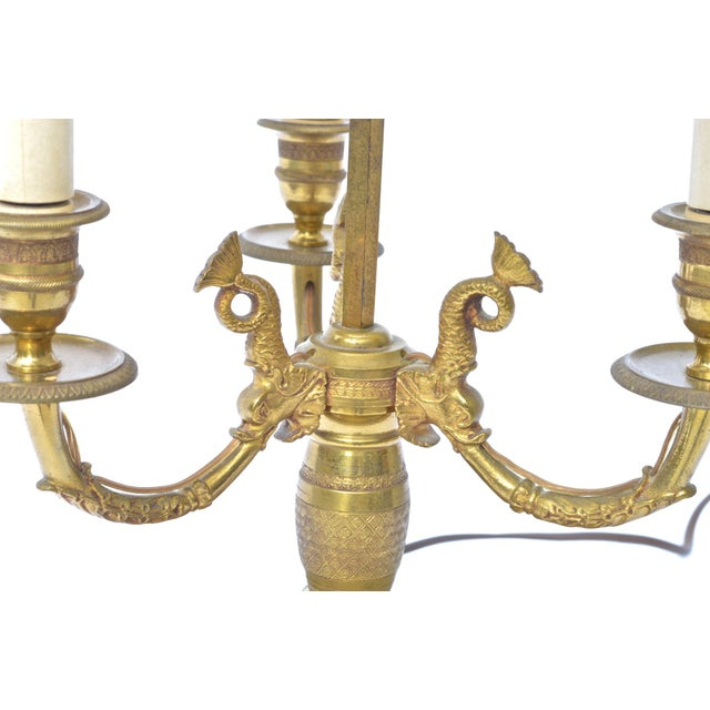 French Empire Bouillotte Lamp For Sale - Image 6 of 7
